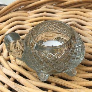 Avon Glass Turtle Tealight Candle Holder